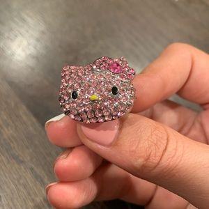 Pink Hello Kitty adjustable ring